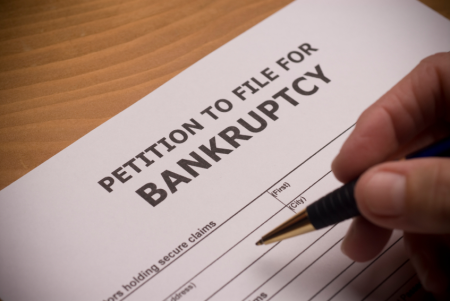 deciding to declare bankruptcy in greenville